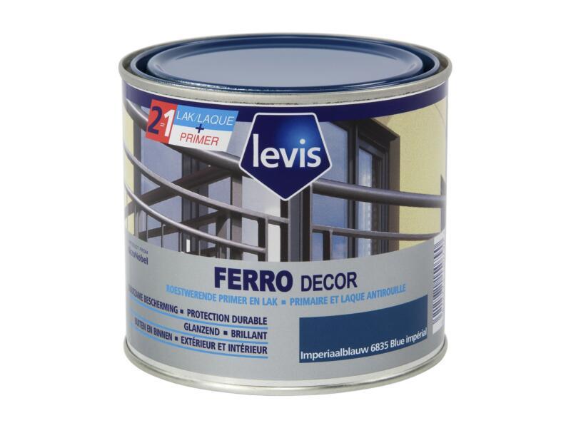 Levis Ferro decor lak hoogglans 0,5l imperiaalblauw