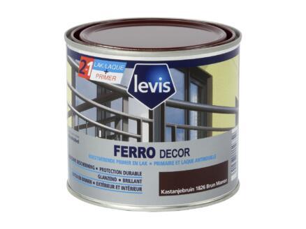 Levis Ferro decor lak hoogglans 0,5l kastanjebruin