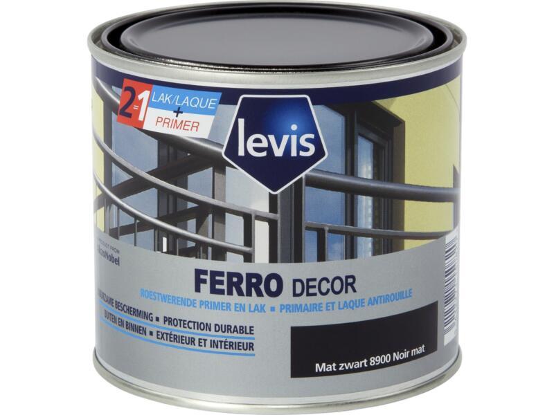 Levis Ferro decor lak hoogglans 0,5l mat zwart