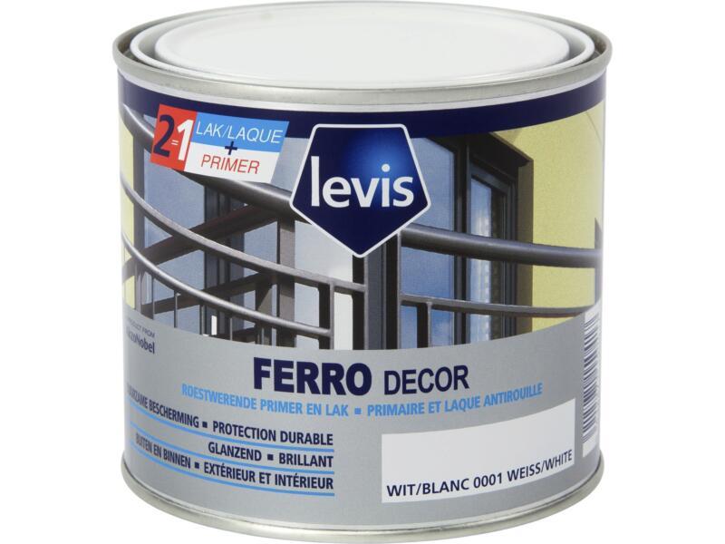 Levis Ferro decor lak hoogglans 0,5l wit