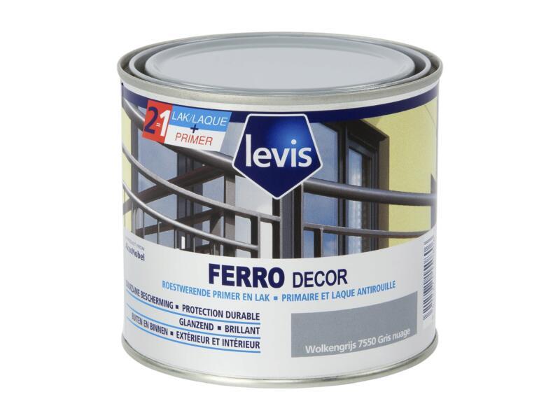 Levis Ferro decor lak hoogglans 0,5l wolkengrijs