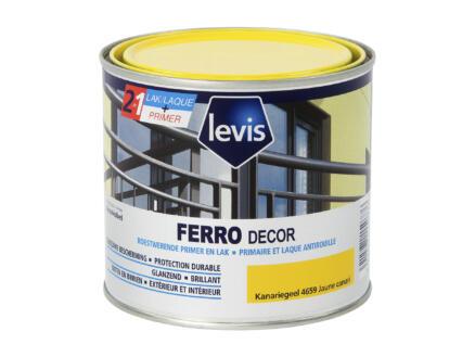 Levis Ferro decor laque brillant 0,5l jaune canari