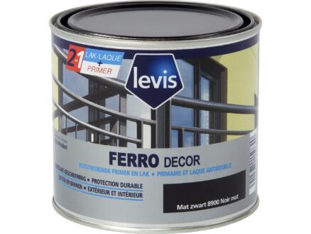 Levis Ferro decor laque brillant 0,5l noir mate