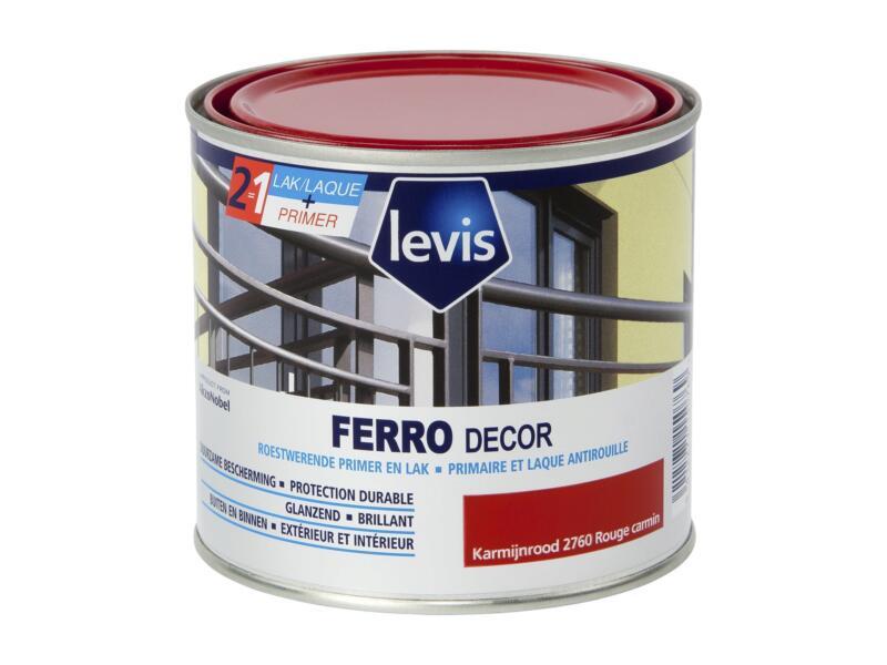 Levis Ferro decor laque brillant 0,5l rouge carmin