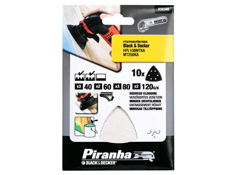 Piranha Feuilles abrasives G40/60/80/120 10 pièces X32348-XJ