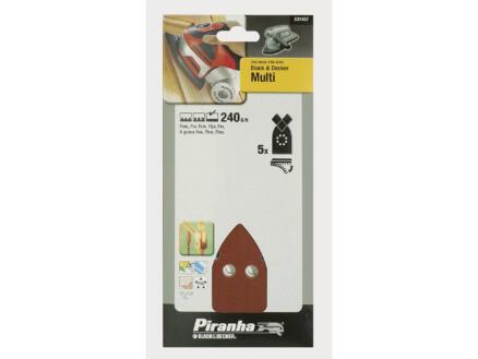 Piranha Feuilles abrasives K240 170x100 mm X31457-XJ