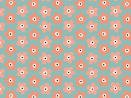 Lola Film adhésif 45cm x 3m fleurs bleues et orange
