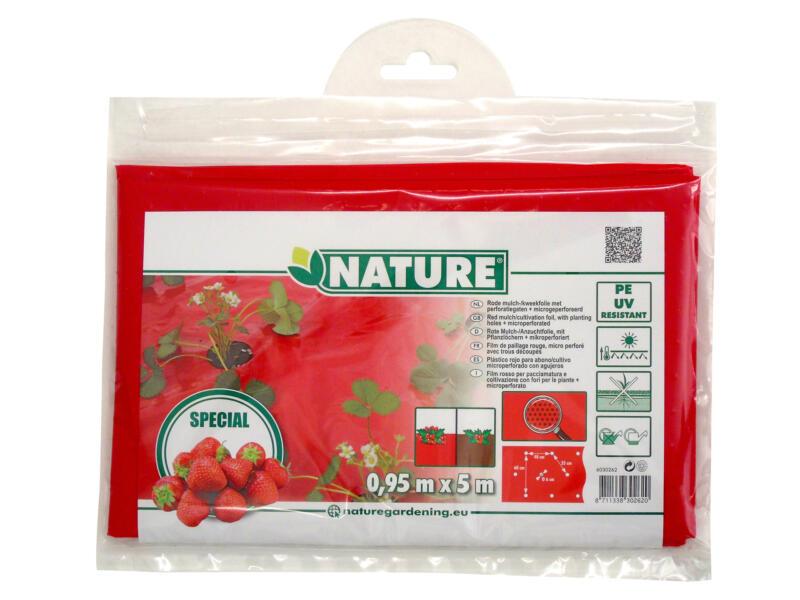 Film de paillage fraises 5x0,95 m rouge