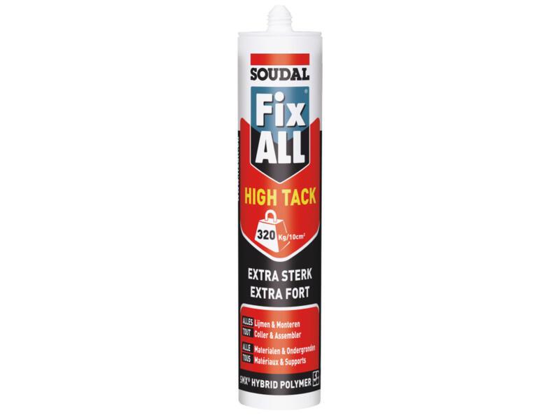Soudal Fix All High Tack colle de montage 290ml gris aluminium