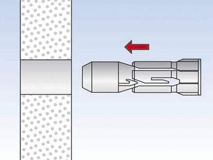Fischer Fixation pour plaques PD 10 SK