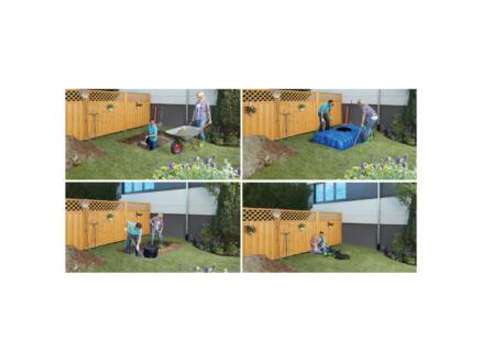 4Rain Flat Confort tonneau de pluie à enterrer 1500l + accessoires