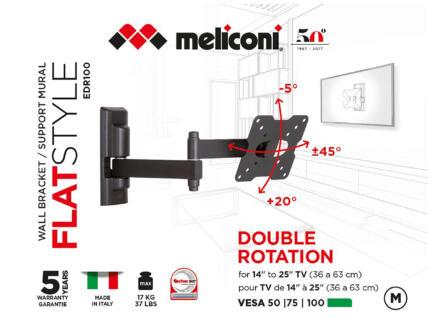 Flatstyle EDR100 support mural TV inclinable pour écran plat 14