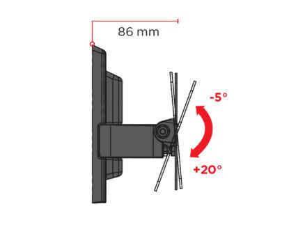 Flatstyle ETR200 TV beugel voor flatscreen kantelbaar 26