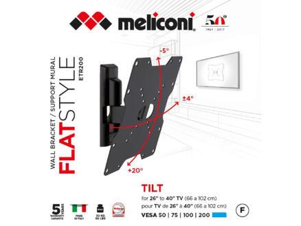 Flatstyle ETR200 support mural TV inclinable pour écran plat 26