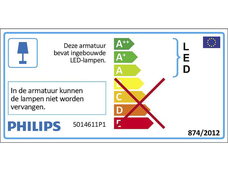 Philips Float LED wandlamp 5W chroom