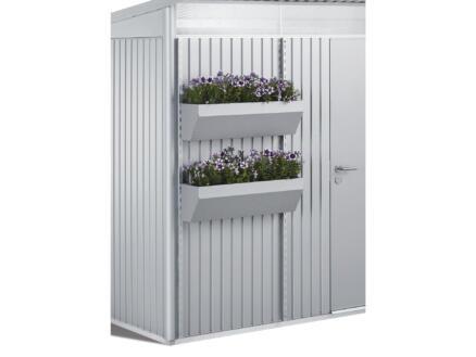 Biohort FloraBoard bac à fleurs 198cm acier argent pour AvantGarde/Highline/Panorama