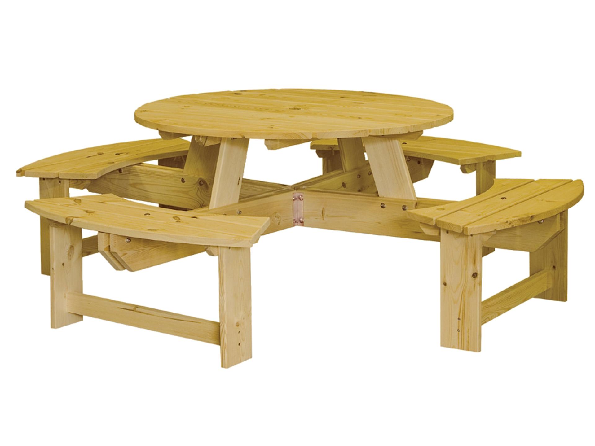 Florence table de pique-nique 225cm brun
