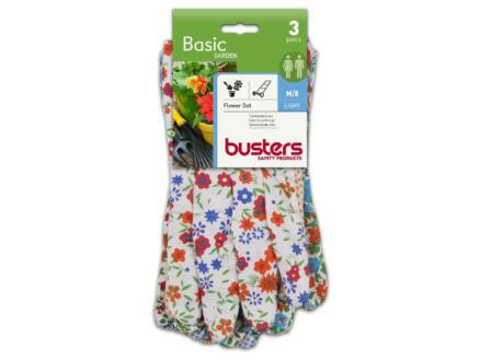 Busters Flower Dot gants de jardinage M coton 3 paires