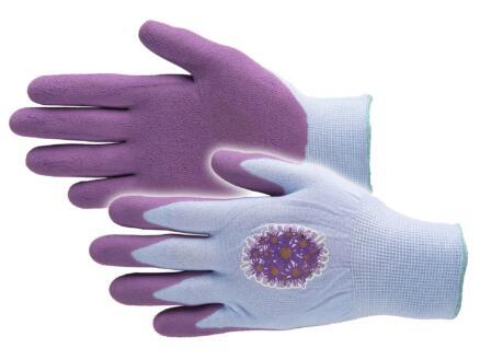 Busters Flower Power gants de jardinage L nylon pourpre