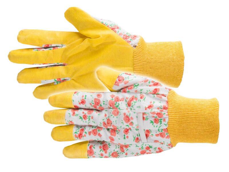 Busters Flower gants de jardinage M vinyle jaune