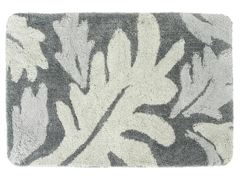 Differnz Folia tapis de bain 90x60 cm gris