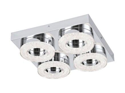 Eglo Fradelo LED plafondlamp 4x4 W chroom/kristal