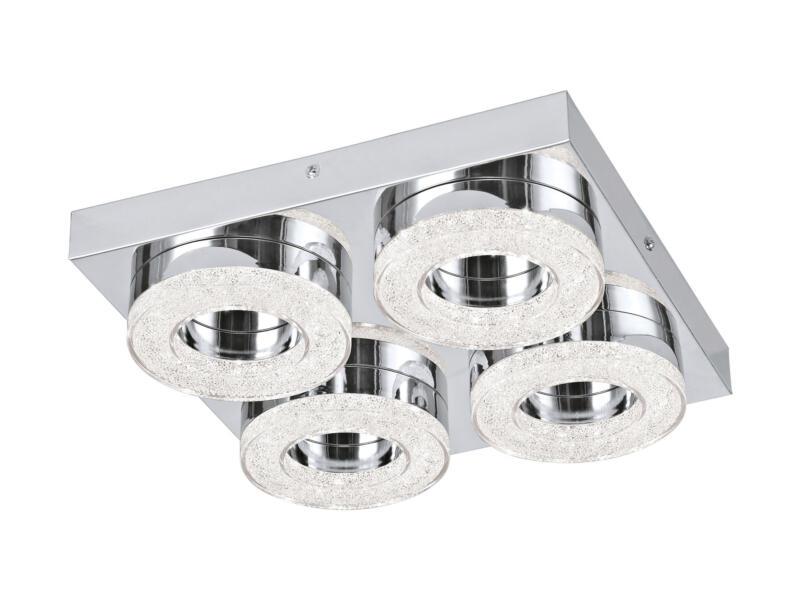 Eglo Fradelo plafonnier LED 4x4 W chrome/cristal
