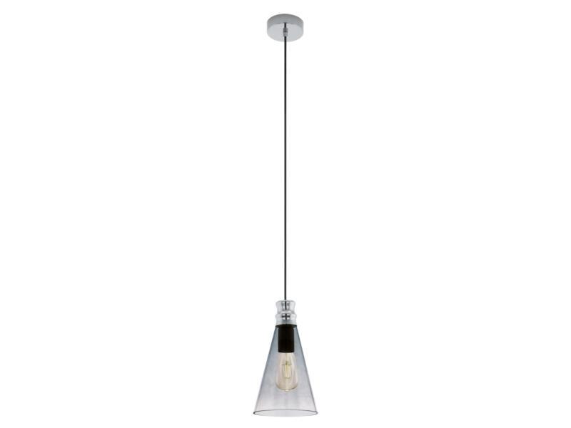 Eglo Frampton hanglamp E27 max. 60W zwart/transparant