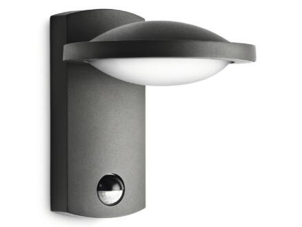 Philips Freedom LED wandlamp 3W met PIR antraciet