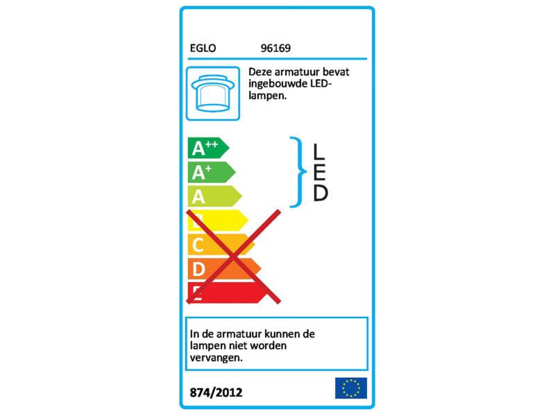 Eglo Fueva 1 LED plafondlamp vierkant 22W wit