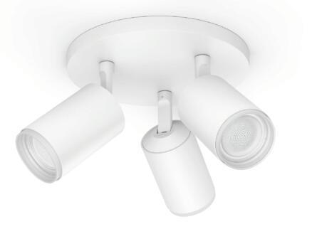 Philips Hue Fugato spot de plafond LED GU10 3x5,5 W dimmable + télécommande blanc