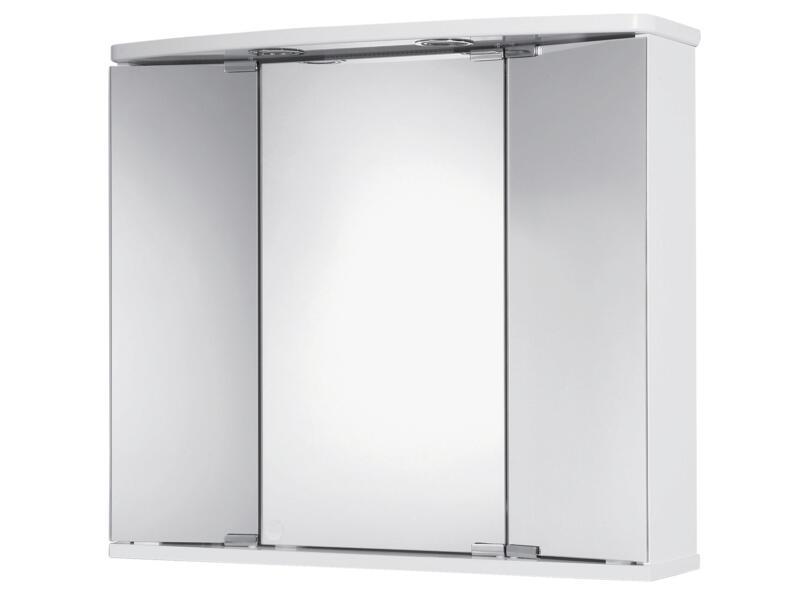 Jokey Funa armoire de toilette 68cm 3 portes blanc