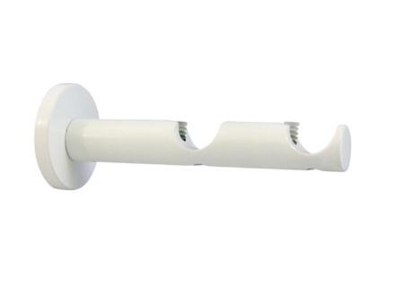 Function dubbele muursteun gordijnroede 20mm 12cm wit