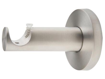 Function muursteun gordijnroede 20mm 6,5cm inox look
