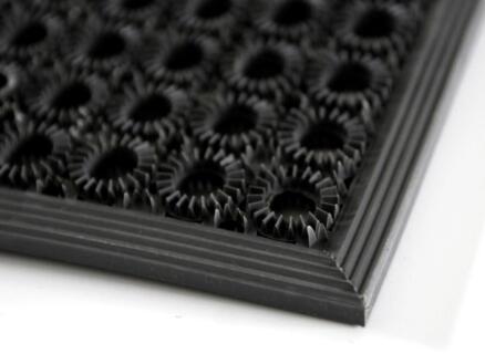 Funky rubbermat 48x62 cm grijs