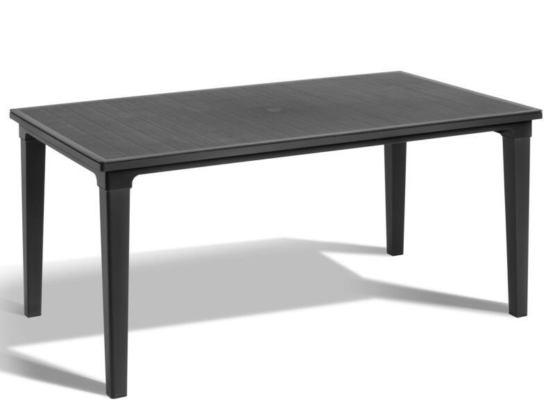 Allibert Futura table de jardin 165x95 cm graphite