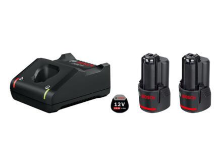Bosch Professional GBA starterset accu 2x12V Li-Ion 2Ah + lader