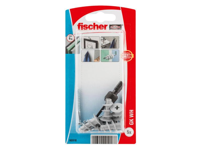 Fischer GK gipsplaatpluggen 4,5x22 mm met rechte haak 5 stuks