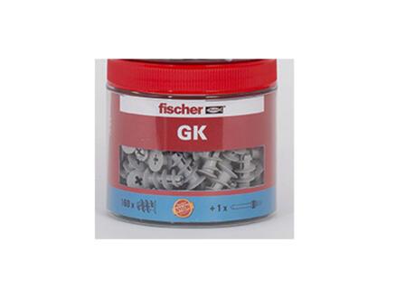 Fischer GK gipsplaatpluggen 4,5x33 mm + montagehulpstuk 160 stuks