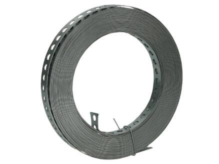 Gaatjesband recht 25x0,8 mm 10m