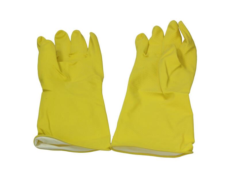 Gants de ménage XL latex jaune