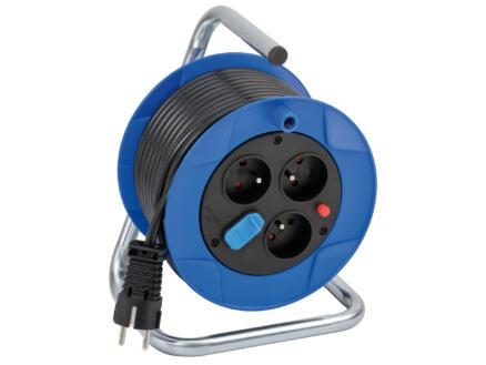 Brennenstuhl Garant enrouleur de câble électrique 3G1,5 15m H05VV-F + 2 prises USB