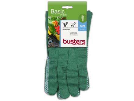 Busters Garden Dot Grip gants de jardinage XL coton vert
