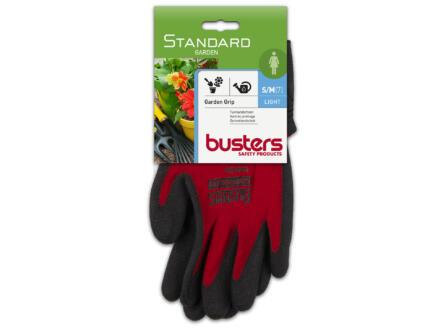 Busters Garden Grip gants de jardinage S/M nylon rouge