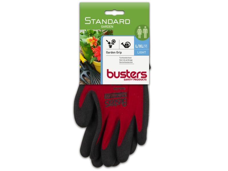 Busters Garden Grip tuinhandschoenen L/XL nylon rood