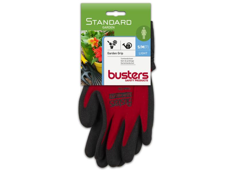 Busters Garden Grip tuinhandschoenen S/M nylon rood