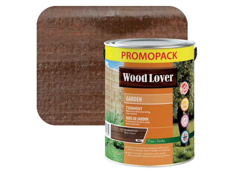 Wood Lover Garden houtbeits 5l donkerbruin #223