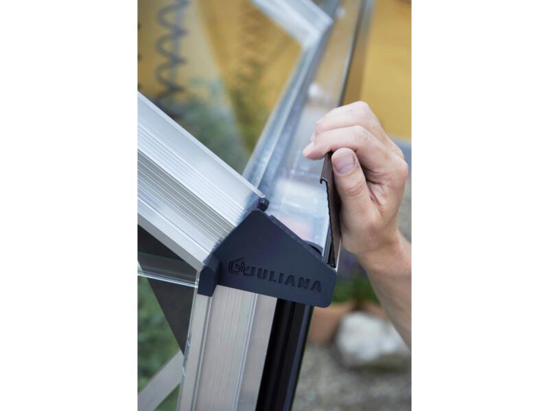Juliana Gardener 188 serre polycarbonaat grijs