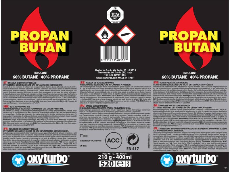 Oxyturbo Gaspatroon 210g