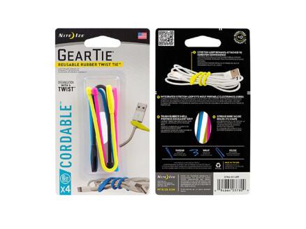 Nite Ize Gear Tie Cordable kabelbinder 152,4x5 mm 4 stuks